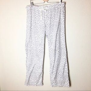 Jcrew light Grey Leopard Pajama Lounge Pants